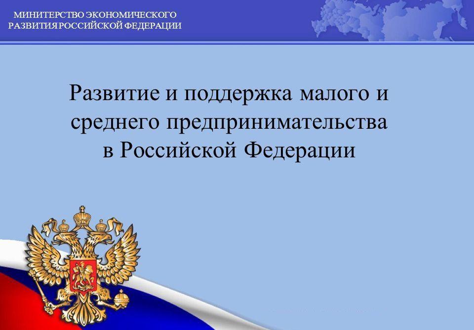 О развитии малого и среднего предпринимательства в Российской Федерации